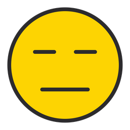 Expressionless Face Emoji Icon