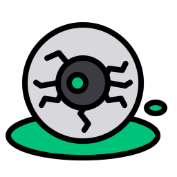 Eye, Ghost, Blood, Halloween, Scary, Vision, Sight Icon