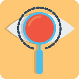 Eye, Mission, Vision, View, Find, Search, Magnifier, Glass Icon