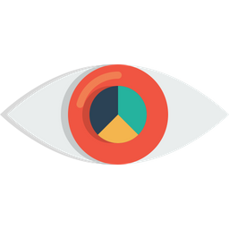 Eye, Mission, Vision, View, Find, Search, Pie, Chartglass Icon