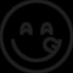 Face savouring delicious food Emoji Icon