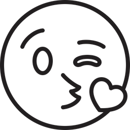 Face Throwing A Kiss Emoji Icon Of Line Style Available In Svg Png Eps Ai Icon Fonts