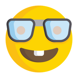 Nerd Face Emoji Icon