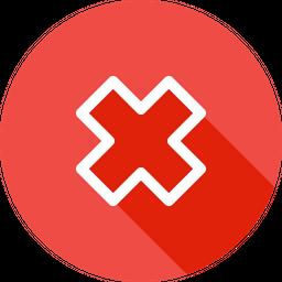 False, Delete, Remove, Cross, Wrong Icon