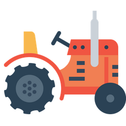 Farming, Tractor, Vehicle, Agriculture, Farm, Work Icon