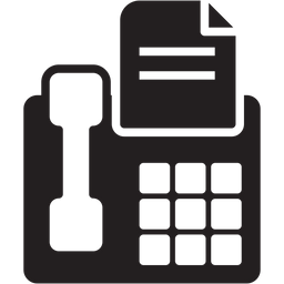 Fax Icon Of Glyph Style Available In Svg Png Eps Ai Icon Fonts