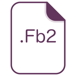 Fb2, File, Extension, Document, Filetype Icon