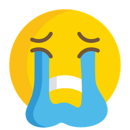 Loudly Crying Face Emoji Icon