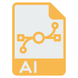File, Filetype, Document, AI, Extension, Adobe, Illustrator Icon