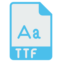 File, Format, Document, Ttf, Extension, Filetype Icon