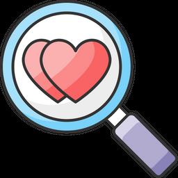 Find Love Colored Outline Icon