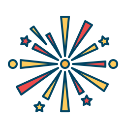 Fireworks Icon of Colored Outline style - Available in SVG ...Fireworks Icon Image