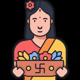 Flower Vendor Icon