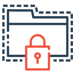 Folder, Password, Protect, Lock, Secure, Seo, Web, Tools Icon