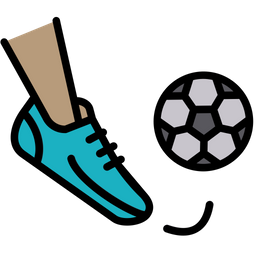 Football Free Kick Colored Outline Icon