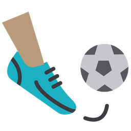 Football Free Kick Flat Icon