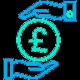 Funding Pound Line Icon