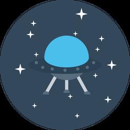 Galaxy, Spaceship, Universe, Invasion, Alien, Solar, System Icon
