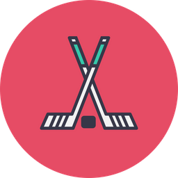 Game, Sport, Hockey, Stick, Ball Icon