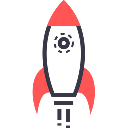 Game, Sport, Rocket, Fly, Takeoff Icon of Colored Outline