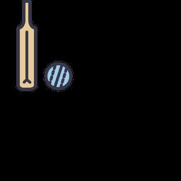 Game, Sports, Cricket, Ball, Bat, Equipment, Batsman Icon