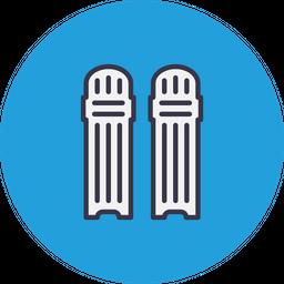Game, Sports, Cricket, Pad, Leg, Protection, Saety Icon