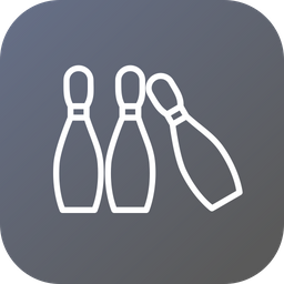 Game, Sports, Sport, Bowling, Pins, Play Icon