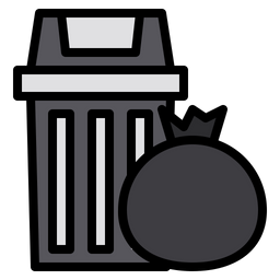 Garbage Bag Colored Outline Icon
