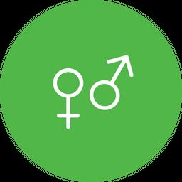 Gender, Sex, Male, Femal, Sign, Symbol Icon