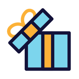 Gift Box Icon Of Colored Outline Style Available In Svg Png Eps Ai Icon Fonts