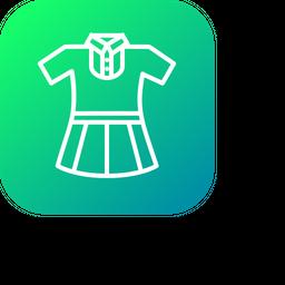 Girl, Uniform, Cloth, School, Study Icon