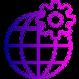 Globe, Globel, Setting, World, International, Logistic, Transport, Travel Icon