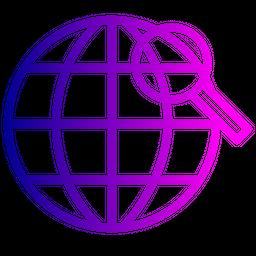 Globe, Globel, World, International, Logistic, Transport, Search, Find Icon