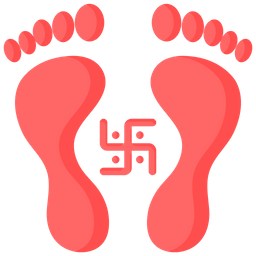 Goddess Laxmi Footprint Icon