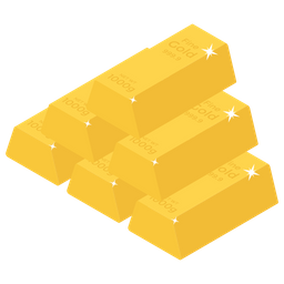 Gold Stack Icon