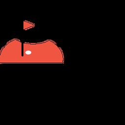 Golf, Court, Hotel, Restaurant, Sport, Game, Fun Icon