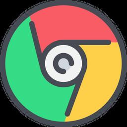 Google Chrome Colored Outline Icon