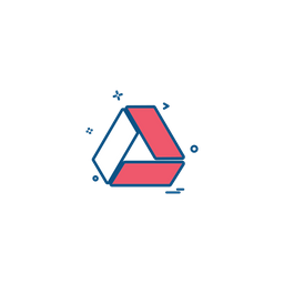 Google Drive Logo Icon Of Colored Outline Style Available In Svg Png Eps Ai Icon Fonts