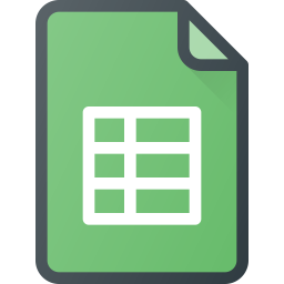 Google sheets Logo Icon of Colored Outline style - Available