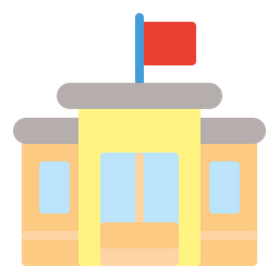 Government Building Flat Icon
