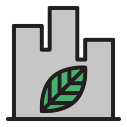 Green City Colored Outline Icon