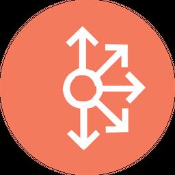 Half, Mess, Circle, Connect, Connectionarrow, Arrows Icon png