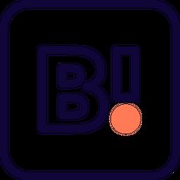 Hatena Bookmark Colored Outline  Logo Icon