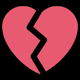 Heart, Break, Broken, Like, Love Icon png