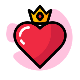 Heart Crown Icon Of Colored Outline Style Available In Svg Png Eps Ai Icon Fonts