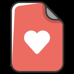 Heart, Love, Like, Favorite, Document, File Icon