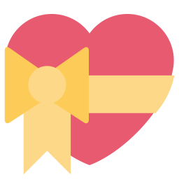 Heart, Love, Ribbon, Valentine, Like Icon png