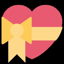Heart, Love, Ribbon, Valentine, Like Icon