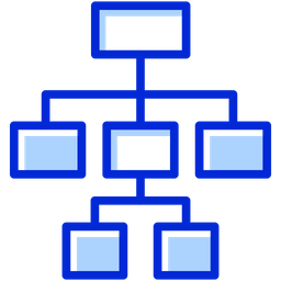 Hierarchy Colored Outline Icon