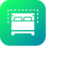 Hotel, Restaurant, Double, Couple, Bed, Furniture Icon